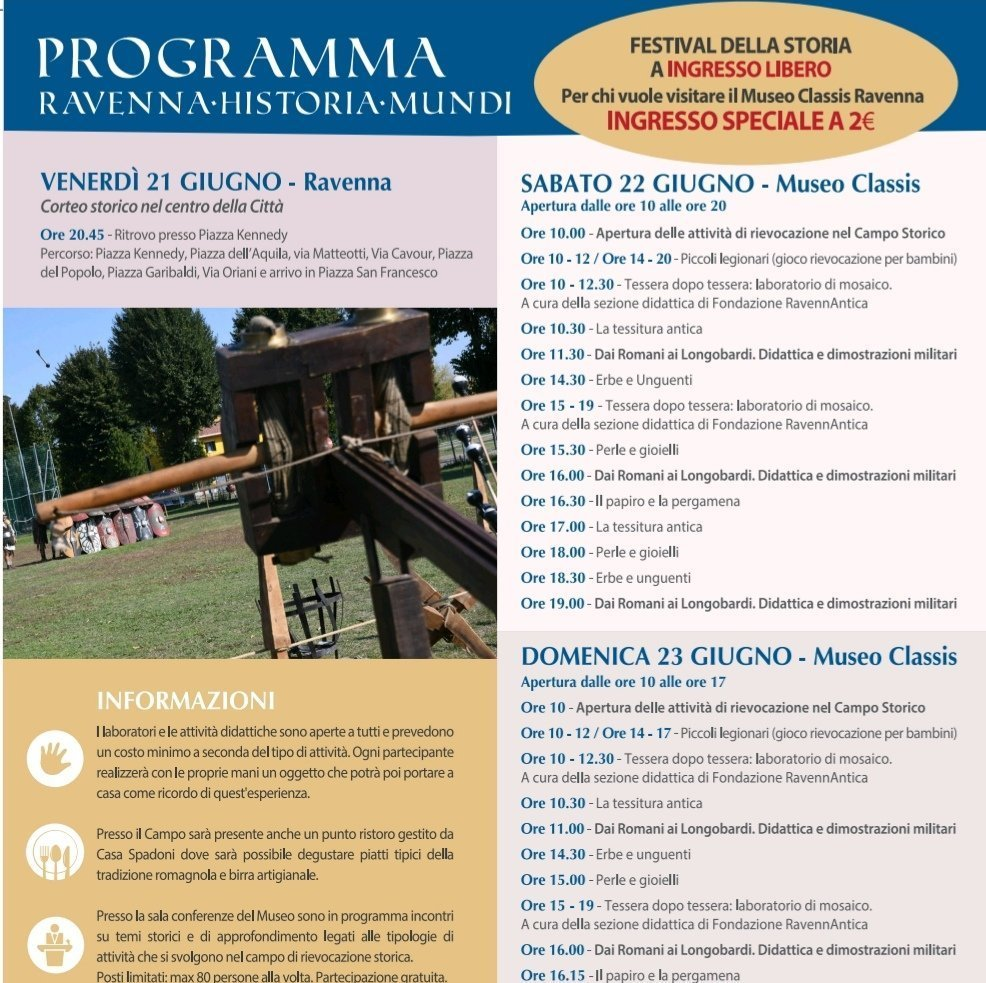 locandina programma Ravenna Historia Mundi